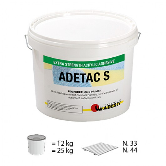 Акриловый клей для напольных покрытий из ПВХ Adesiv ADETAC S 5кг