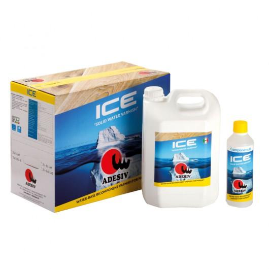 Двухкомпоненный полиуретановый воднодисперсионный паркетный лак Adesiv Ice 4,95л