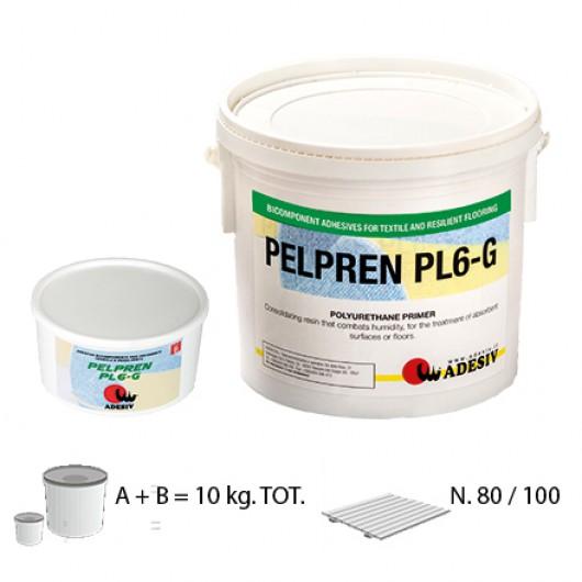 Двухкомпонентный клей для текстильных и полимерных напольных покрытий Adesiv Pelpren PL6-G 10кг
