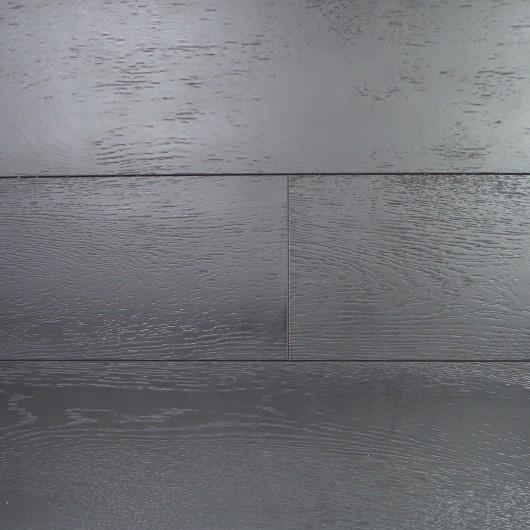 Инженерная доска NONNA Дуб Черная эмаль натур браш лак   16*185*1600-2400
