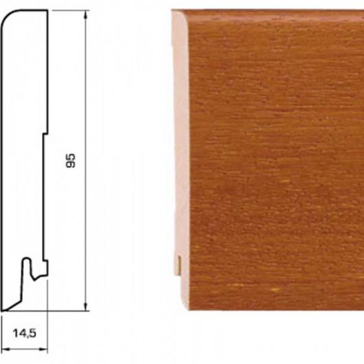 Плинтус Pedross Дуб Черный шпонированный  2500 x 95 x 15