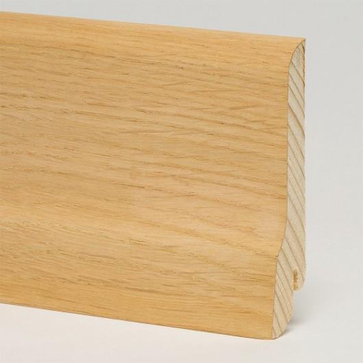 Плинтус Pedross Дуб без покрытия шпонированный  2500 x 80 x 20