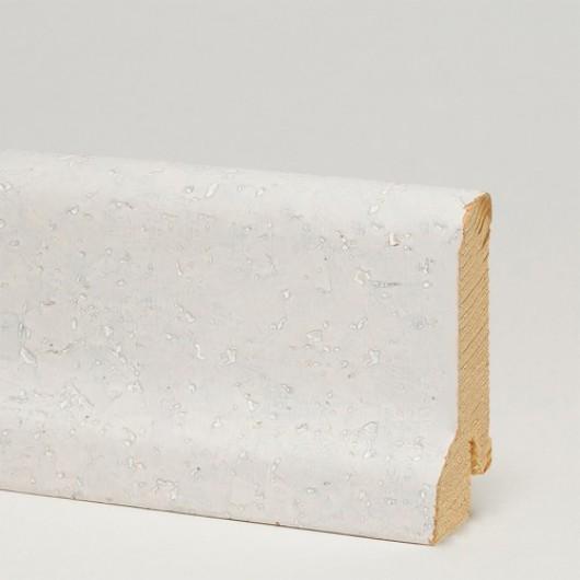 Плинтус Pedross Пробка Белая шпонированный  2500 x 60 x 22