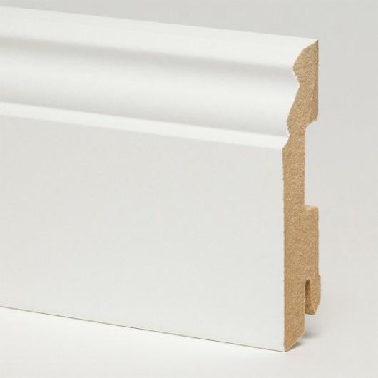 Плинтус Pedross Белый фигурный МДФ  2500 x 78 x 18